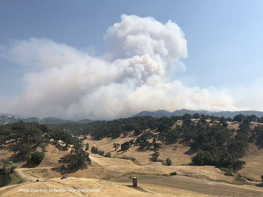 Two fires that broke out Friday afternoon have scorched more than 30,000 acres combined in Mendocino and Lake counties. Photo: Cal Fire