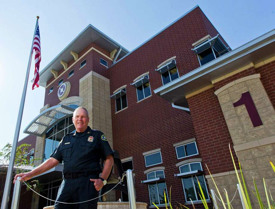 Chief Alan Benson, with The Woodlands Fire Deaprtment, poses for a photo at the department's central fire station on Grogans Mill Road, Tuesday, Nov. 14, 2017, in The Woodlands. Benson retired May 2, 2019, after 14 years leading the department. Photo: Jason Fochtman, Staff Photographer / Houston Chronicle / © 2017 Houston Chronicle