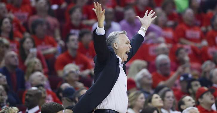 Houston Rockets head coach Mike D'Antoni reacts during Game 7 of the NBA Western Conference Finals at Toyota Center on Monday, May 28, 2018, in Houston. ( Brett Coomer / Houston Chronicle )