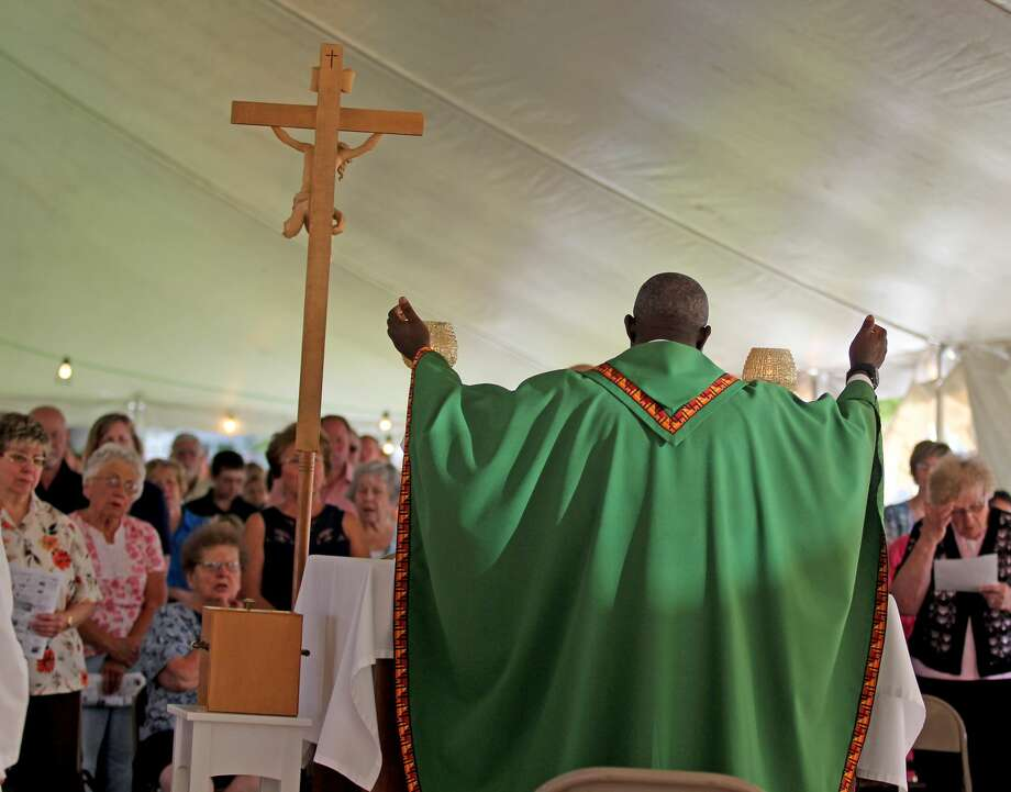 Scenes from the 2018 Our Lady of Lake Huron festival and outdoor mass. Photo: Mike Gallagher/Huron Daily Tribune