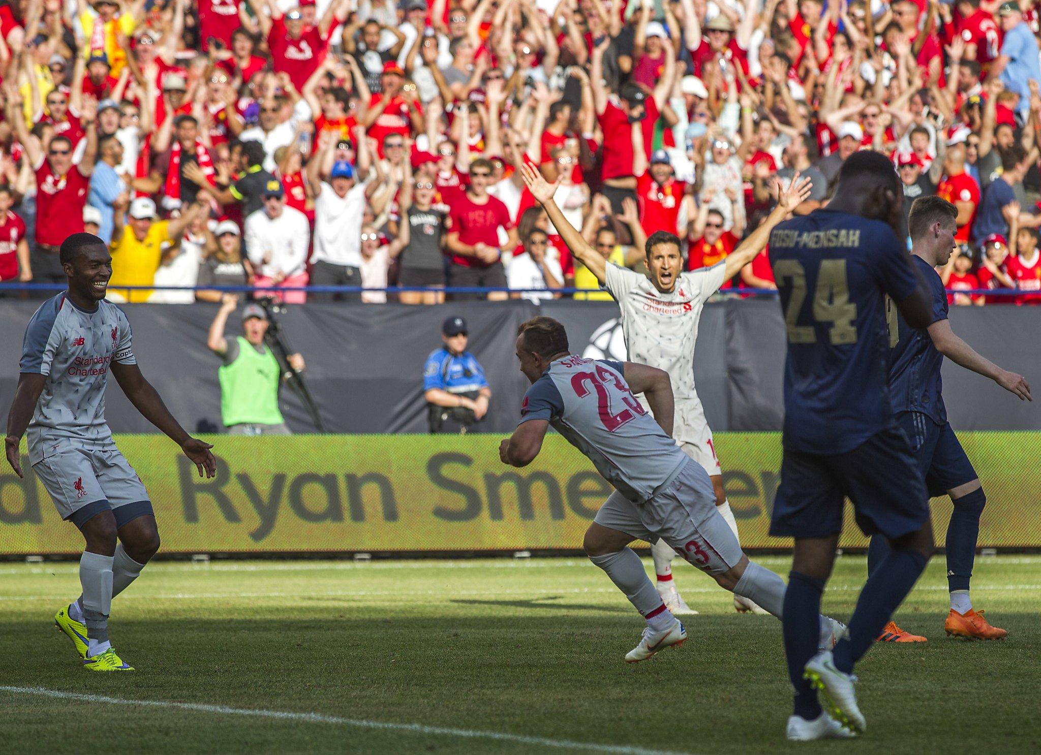 Shaqiri's goal highlights Liverpool's 4-1 win