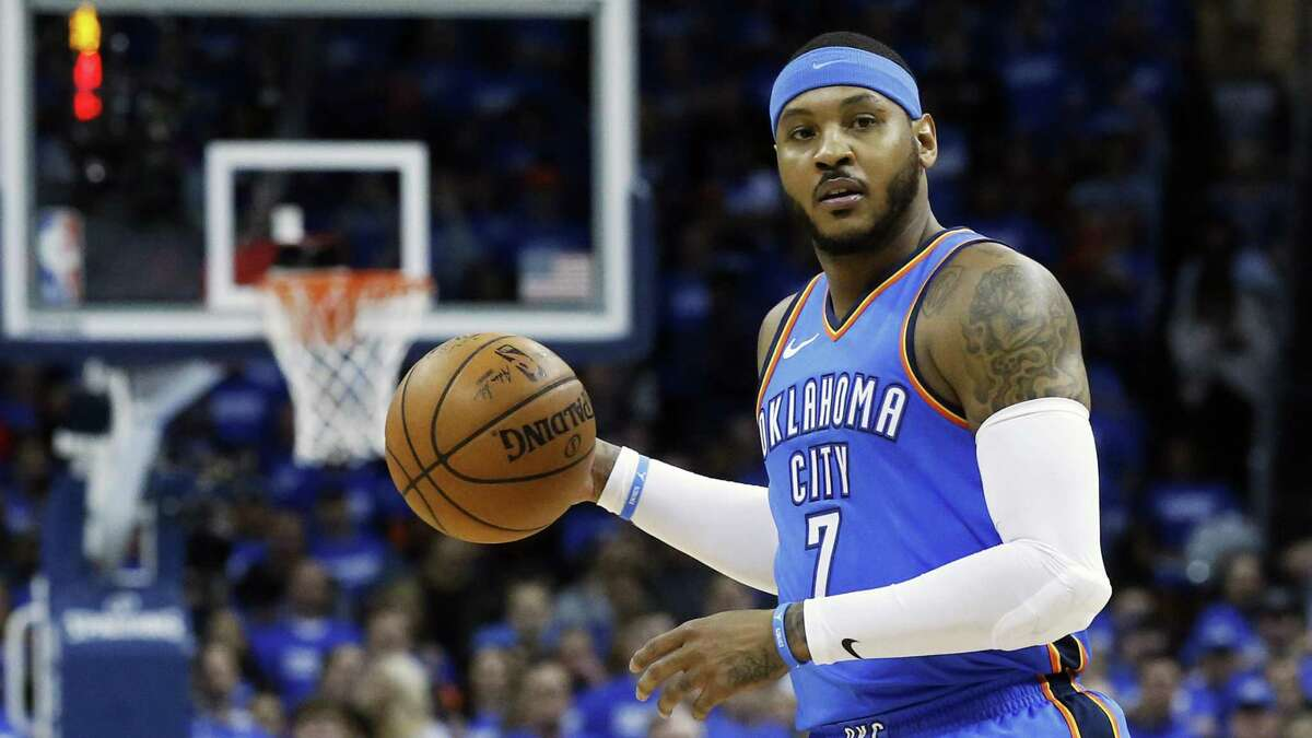 Carmelo Anthony waiting to see how he will fit in with the Rockets.