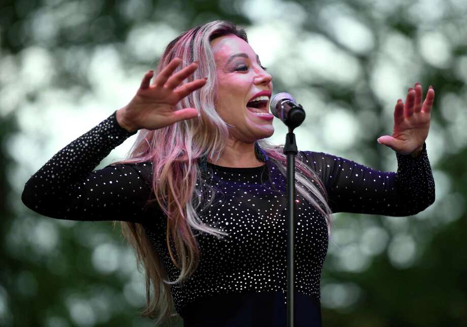 Taylor Dayne performs in a free concert on the New Haven Green on July 28, 2018. Photo: Arnold Gold / Hearst Connecticut Media / New Haven Register