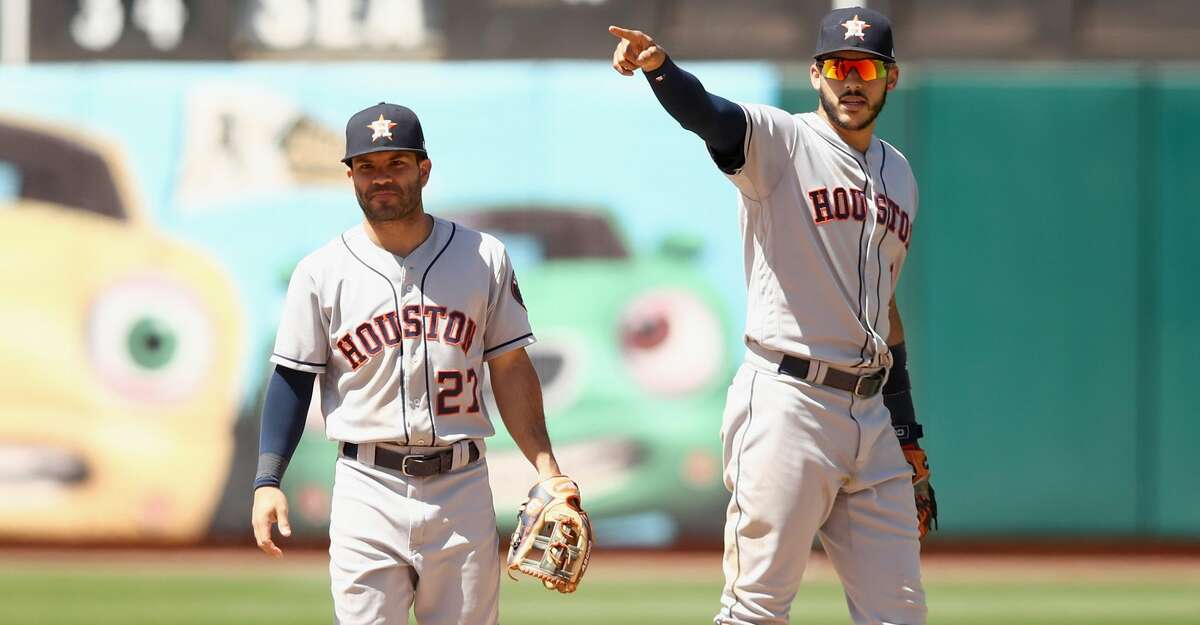 The Astros must move forward with their two cornerstones - Jose Altuve and Carlos Correa - on the disabled list. (Photo by Ezra Shaw/Getty Images)