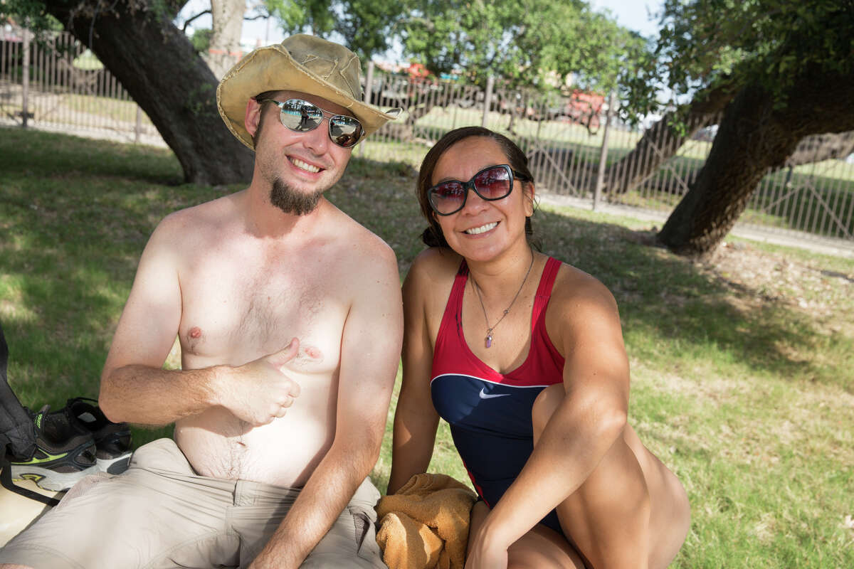 With hot temperatures here to stay, San Antonio residents took to San Pedro Pool for a family-friendly day in the sun on July 28, 2018.
