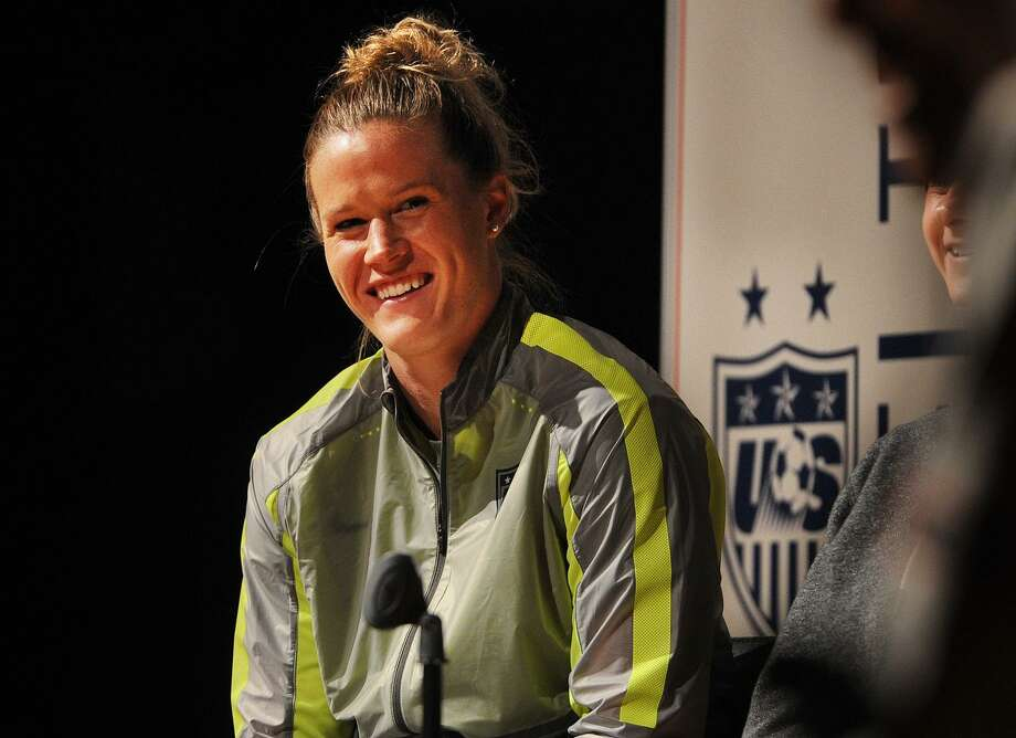 U.S. Women's National Soccer Team goalie Alyssa Naeher of Seymour during a May 2015 visit to her alma mater, Christian Heritage School in Trumbull. Naeher is the starting goalie for the U.S. National Team. Photo: Brian A. Pounds / Brian A. Pounds / Connecticut Post