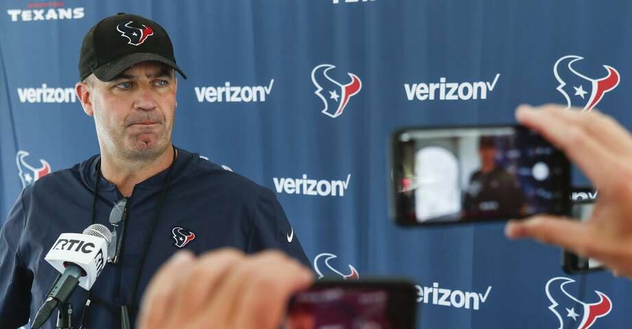 Houston Texans head coach Bill O'Brien holds a post-practice news conference during training camp at the Greenbrier Sports Performance Center on Sunday, July 29, 2018, in White Sulphur Springs, W.Va. Photo: Brett Coomer/Houston Chronicle