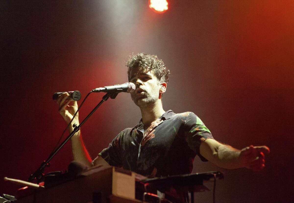 Michael Deni of Geographer performs at the Fillmore in San Francisco. The musician is relocating to Los Angeles in August.