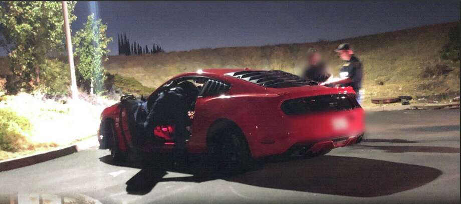 An attempted auto sideshow that drew an estimated 200 onlookers in Antioch was broken up by a law enforcement task force Saturday night, according to the California Highway Patrol. Photo: CHP Contra Costa