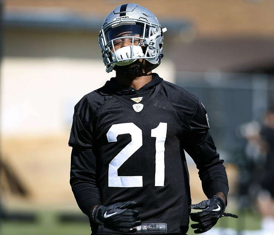 Cornerback Gareon Conley practices in a defensive drill on the first day of Oakland Raiders training camp in Napa, Calif. on Friday, July 27, 2018. Photo: Paul Chinn / The Chronicle