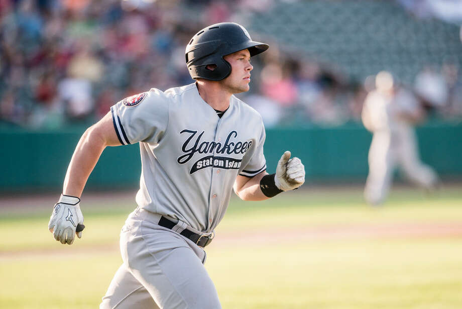 Staten Island Yankees catcher Josh Breaux returned from a hamstring injury to play against the Tri-City ValleyCats on Sunday, July 29. (Eric Jenks/Special to the Times Union) Photo: Eric Jenks