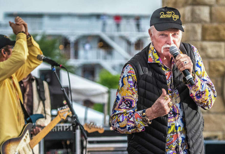 The Beach Boys vocalist Mike Love performs to a packed Liberty Bank Alton Amphitheater Sunday night. Love, 77, crooned all of the crowd's favorites, without seeming to lose a step since the band's meteoric rise to iconic-status in the 1960s. The concert appeared to be nearly sold-out, with just a smattering of seats left open. Photo:     Nathan Woodside | The Telegraph