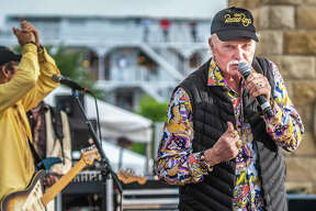 The Beach Boys vocalist Mike Love performs to a packed Liberty Bank Alton Amphitheater Sunday night. Love, 77, crooned all of the crowd's favorites, without seeming to lose a step since the band's meteoric rise to iconic-status in the 1960s. The concert appeared to be nearly sold-out, with just a smattering of seats left open.