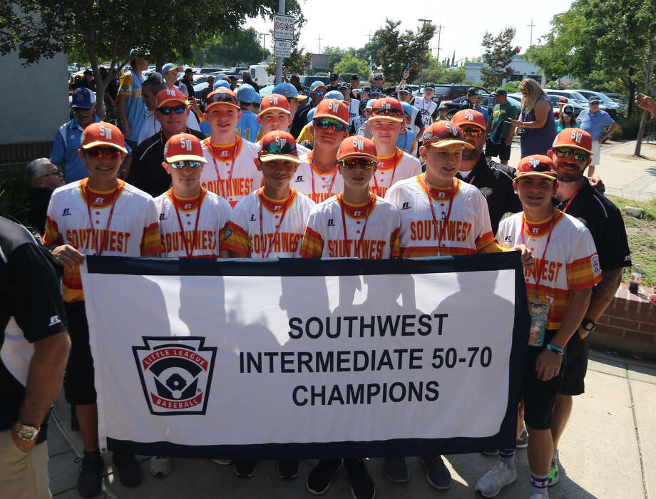 The Mid City All Stars pose before the opening ceremonies of the Intermediate 50/70 World Series in Livermore, Calif. Photo: Courtesy Photo
