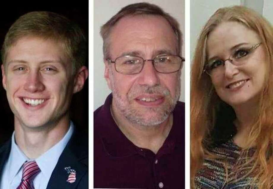 From left, Jeremy Rodgers, John Metevia and Pam Hall are the three candidates running in the Aug. 7 primary election for the Ward 1 seat on Midland City Council.