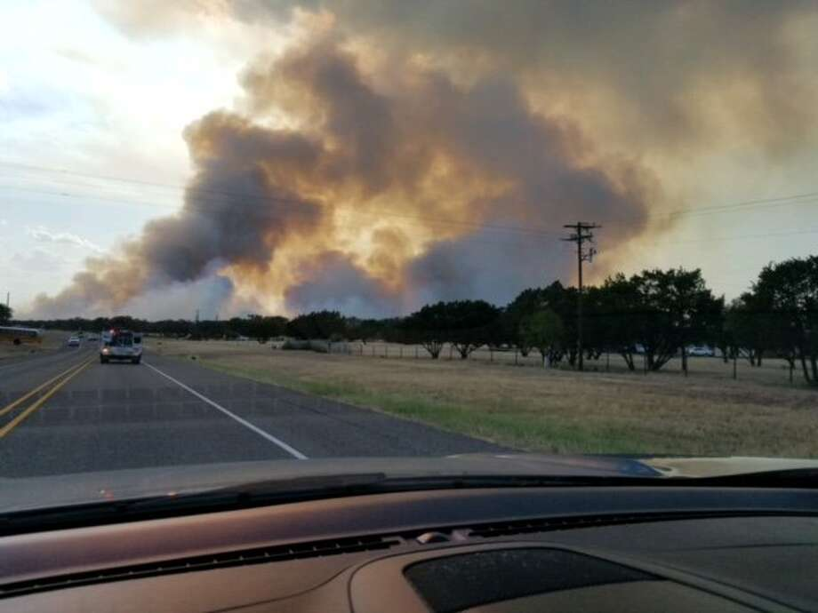 The wildfire began around 4 p.m. on Sunday just south of Inks Lake in Burnet County, approximately 5 miles northeast of Kingsland, Texas. Photo: Texas A&M Forest Service