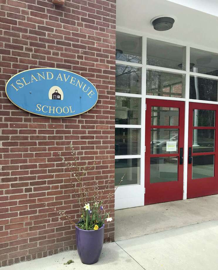 The town is in discussion with OLM Strong over leasing Island Avenue School, above, for the academic year 2019-2020. Photo: Sarah Page Kyrcz / For Hearst Connecticut Media / New Haven Register freelance