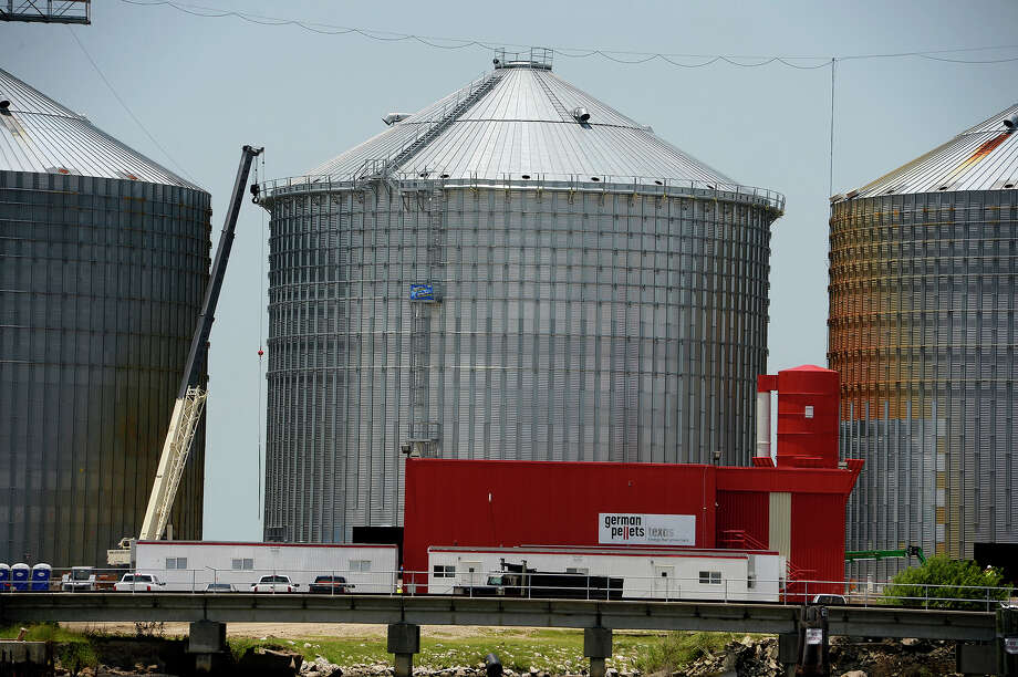 A new silo has been constructed at the German Pellets wood pellet silo along the Neches River in Port Arthur. One of the silos collapsed during a fire that smoldered for months in spring 2017.  Photo taken Wednesday 7/18/18 Ryan Pelham/The Enterprise Photo: Ryan Pelham/The Enterprise / ?2018 The Beaumont Enterprise