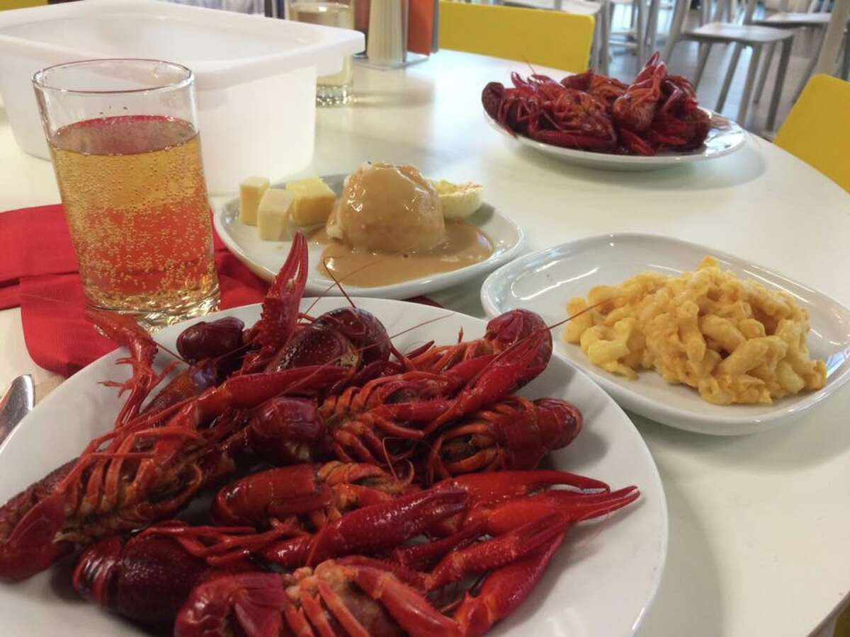 Crayfish dinner at Ikea in New Haven in 2017.