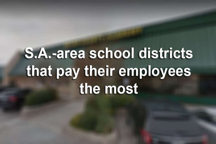 At all but four schools or districts in Bexar County, employees were paid an average base salary of at least $40,000 in the 2017-2018 school year, the data showed. Click through the slideshow to find out which districts pay their employees, on average, the most. Photo: Google Maps