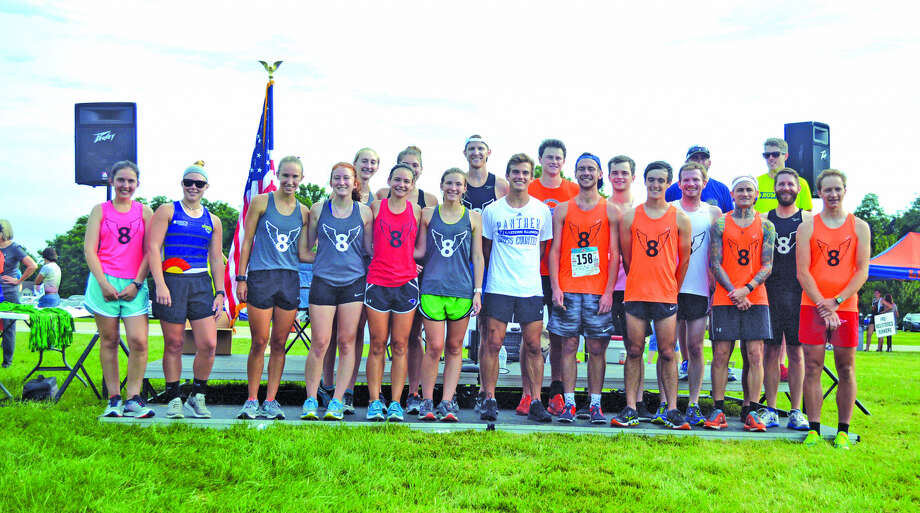 Pictured above are former members of the Edwardsville High School cross country program that returned to run Mud Mountain on Saturday at SIUE. Photo: Scott Marion