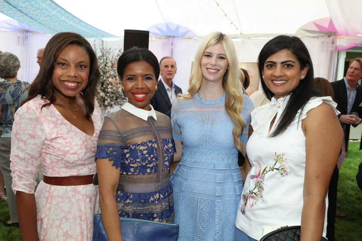Amber Elliott, Claire Thielke, Kimberly Scheele, Ishwaria Subbiah, MD, Hines party in Aspen, CO for the MD Anderson Cancer Center, July 23, 2018.