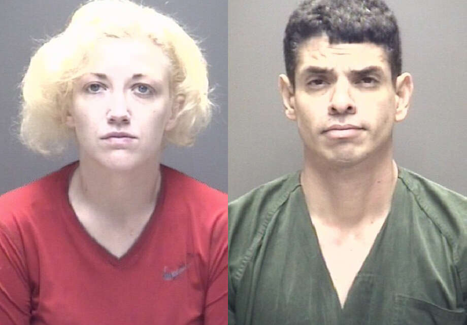 Jennifer Moody and Joel Pena are charged with felony possession of a controlled substance in Galveston County. Photo: Galveston County Jail