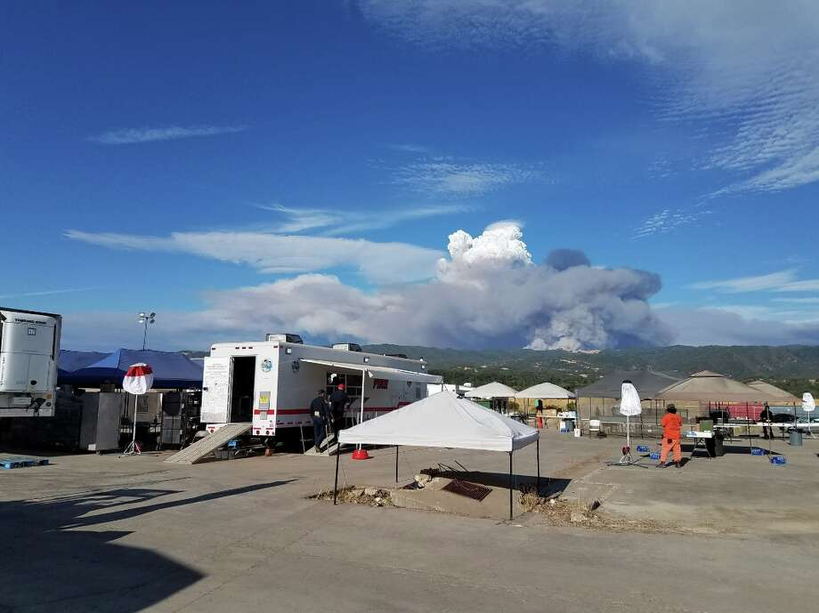 The National Weather Service shared a photo of pyrocumulus and lenticular clouds over the Mendocino Complex Fire. Photo: NWS Sacramento