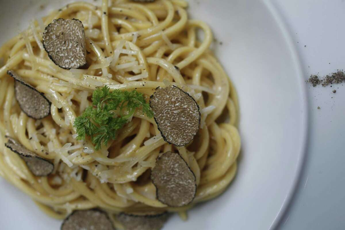 ...another great place to find a satisfying cacio e pepe with Italian black truffle is at downtown's Potente, 1515 Texas Ave.