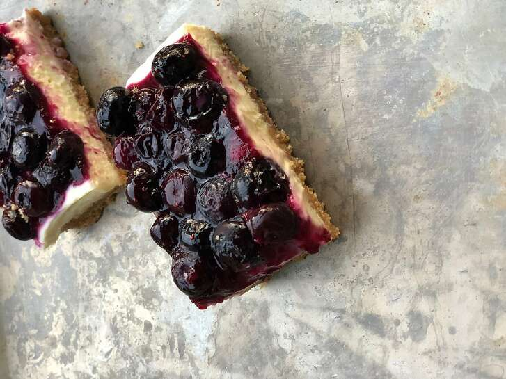 Blueberry-Lime Cheesecake Bars