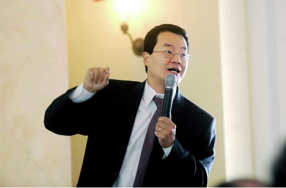 A file photo of Lawrence Yun, chief economist for the National Association of Realtors, while addressing a 2011 meeting in Greenwich, Conn. Photo: Helen Neafsey / ST / Greenwich Time