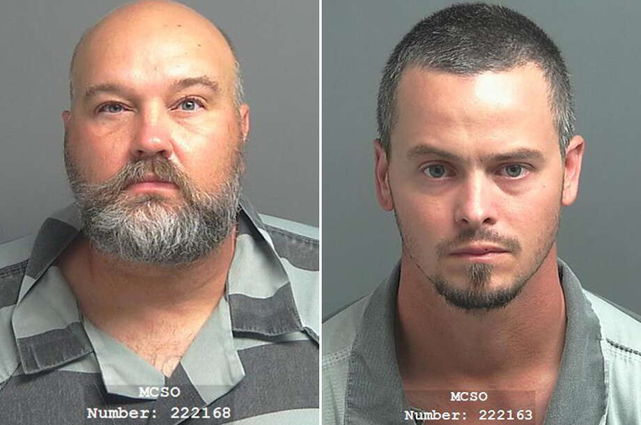 Cody Dawson, 30, left, is accused of stabbing Jason Choat, 45, right, and Choat is accused of shooting toward Dawson after an alleged road rage incident on Saturday, July 28, 2018 in The Woodlands. Photo: Montgomery County Jail