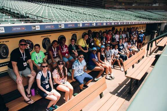 Campers toured Minute Maid Park during the five-day Camp H-Town, which was Houston's first urban oncology camp.