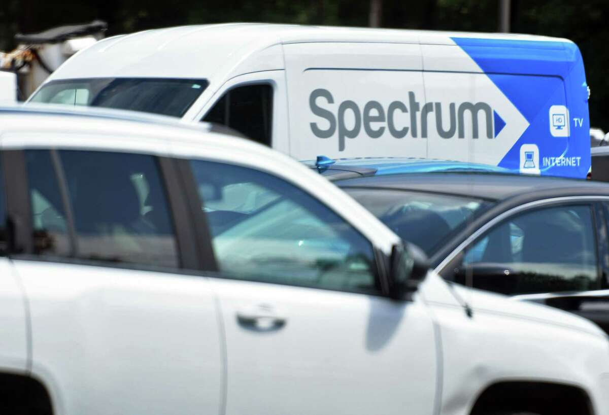 A Spectrum truck in the parking lot of Spectrum offices on Highbridge Road, on Friday July 27, 2018 in Schenectady, N.Y. Spectrum represents the brand of cable, internet and phone services provided by Stamford-based Charter Communications.