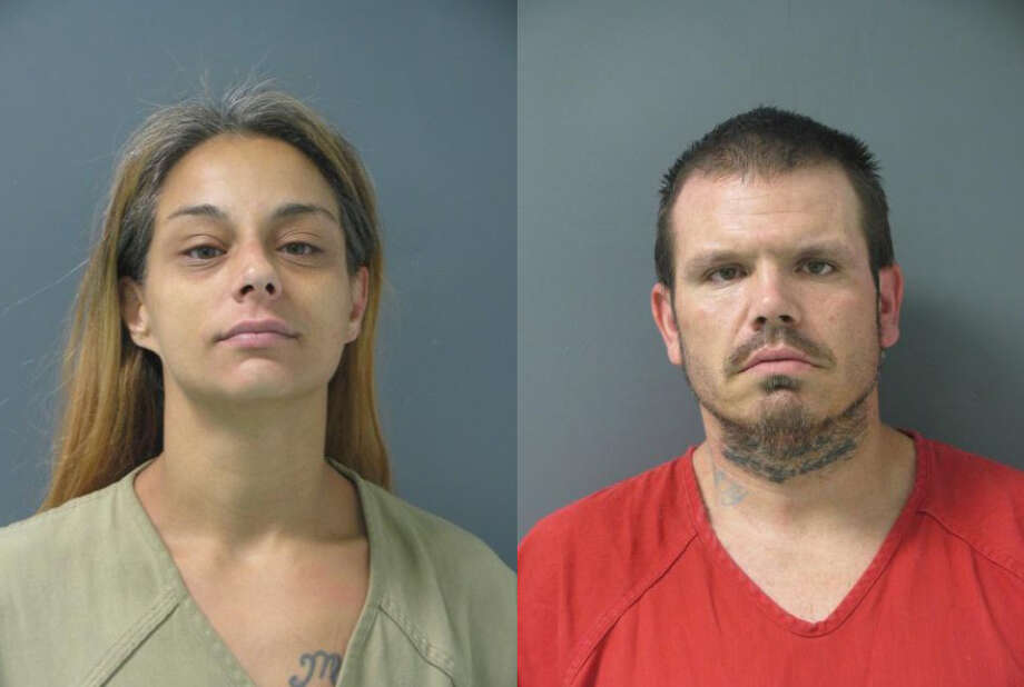Crystal Mertz, left, and Shanin Lloyd were arrested on drug and weapons charges after the Liberty County Sheriff's Office served search warrants in an investigation into alleged meth dealing on Thursday, July 26, 2018. Photo: Liberty County Sheriff's Office