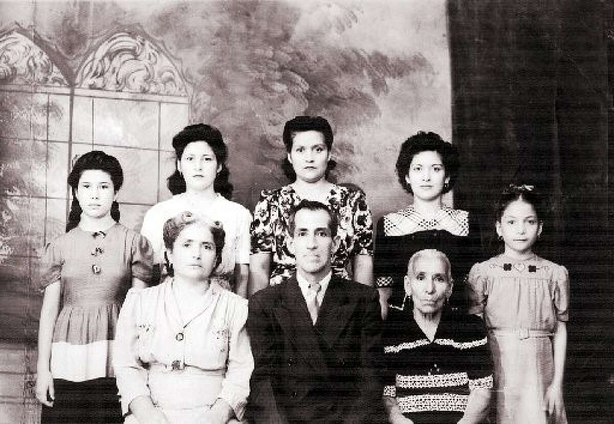 Hernández (bottom left) and her husband, Pedro Hernandez Barrera (center), helped found Orden Caballeros de America (the Order of Knights of America) in 1929. The organization was dedicated to championing the causes of Mexican Americans and immigrants.