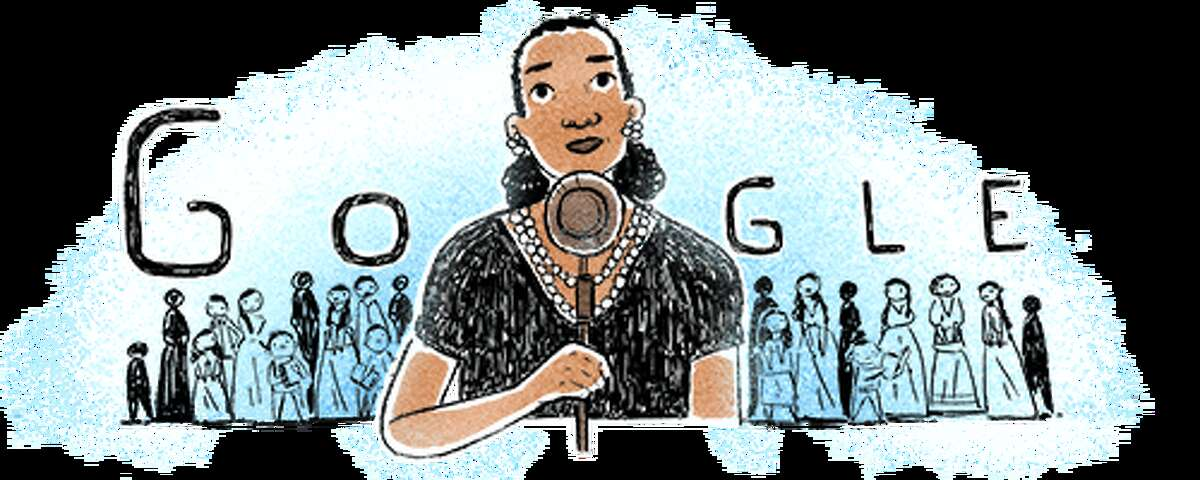 María Rebecca Latigo de Hernández, pictured in this Google Doodle released on July 29, moved to San Antonio in 1918, according to the Texas State Historical Association.