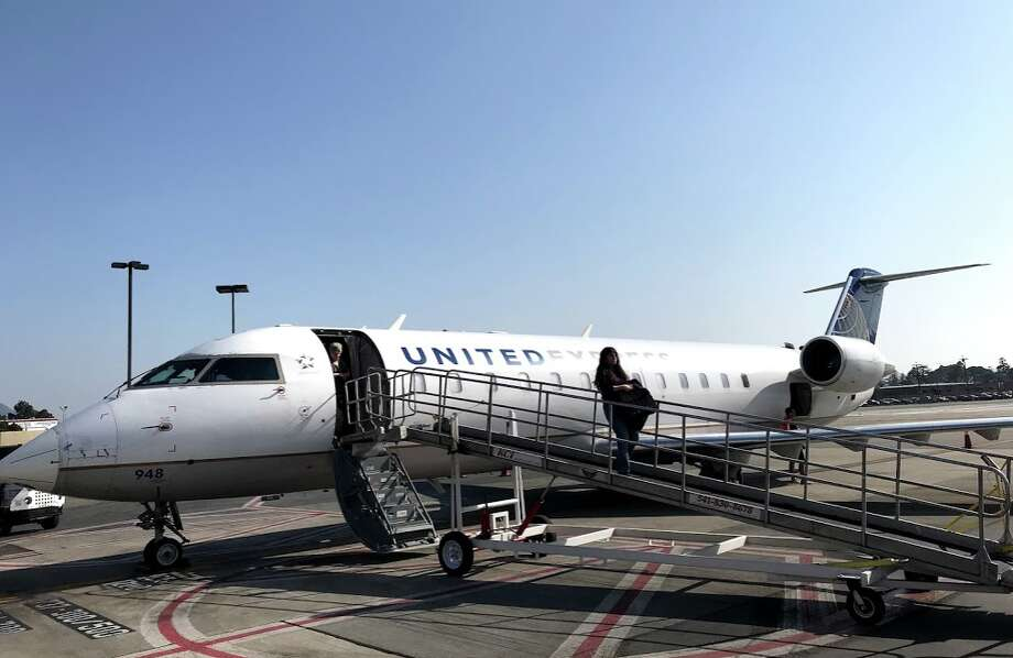 United will use a CRJ jet like this one for it's new flights to Santa Maria, Calif, on the state's central coast Photo: Chris McGinnis