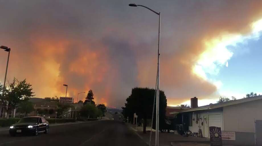 Dylan Duarte shared video of the River Fire burning in Mendocino County on July 28, 2018. Photo: Dylan Duarte / Twitter
