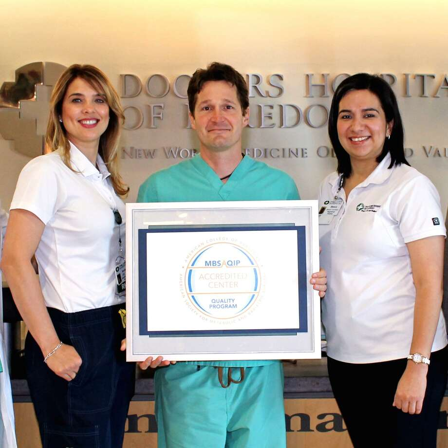 Doctors Hospital Weight Loss and Wellness Center, is also accredited as a Comprehensive Center under the Metabolic and Bariatric Surgery Accreditation and Quality Improvement Program (MBSAQIP), a joint program of the American College of Surgeons (ACS) and the American Society for Metabolic and Bariatric Surgery (ASMBS). Rochelle Gonzalez, RN, BSN, Bariatric Surgical Clinical Reviewer, Michael Morris, MD, Metabolic and Bariatric Surgery Director at Doctors Hospital Weight Loss and Wellness Center, and Blanca Villarreal, RD, LD, Bariatric Coordinator proudly display MBSAQIP seal. Photo: /