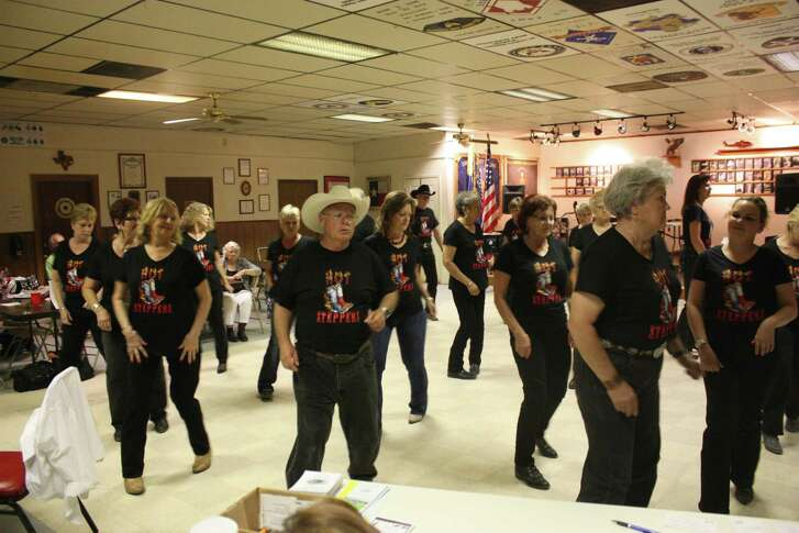 The Hot Steppers show off their stepping skills at the San Jacinto County 144th birthday celebration.