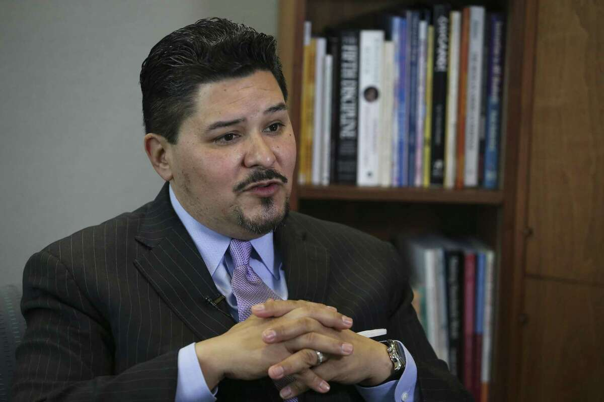 In this March file photo, Houston ISD Superintendent Richard Carranza talks about his departure for the New York City Schools Chancellor position during an interview. Carranza had been working as the HISD superintendent for 18 months. ( Yi-Chin Lee / Houston Chronicle )