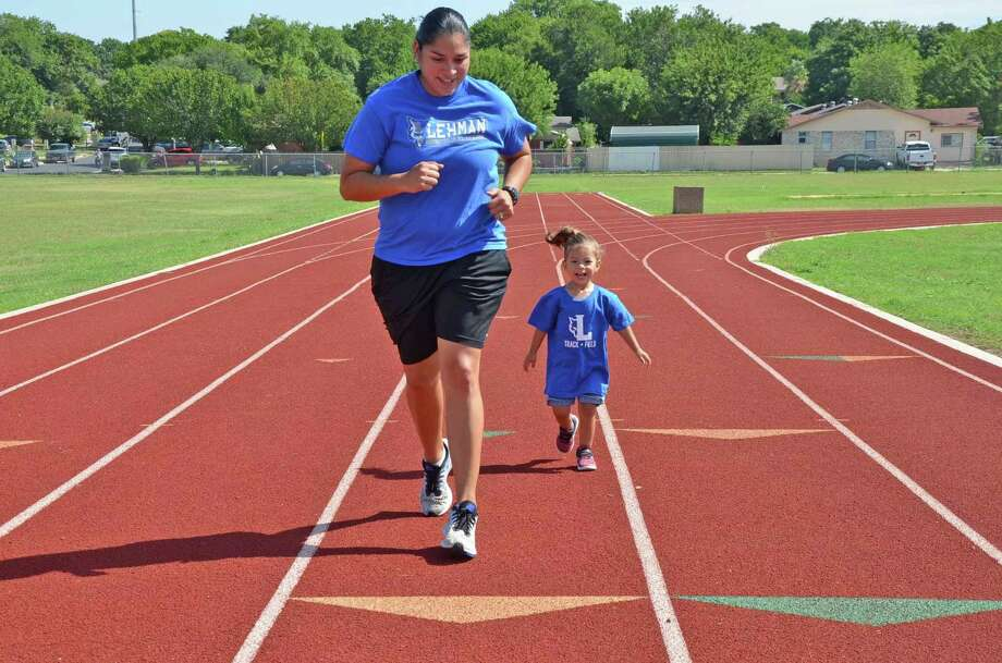Michelle Elizondo-Garcia was a four-sport varsity athlete in all four years at Alexander. She is heading into her third season as the track & field head coach at Lehman High School. Photo: Clara Sandoval /Laredo Morning Times