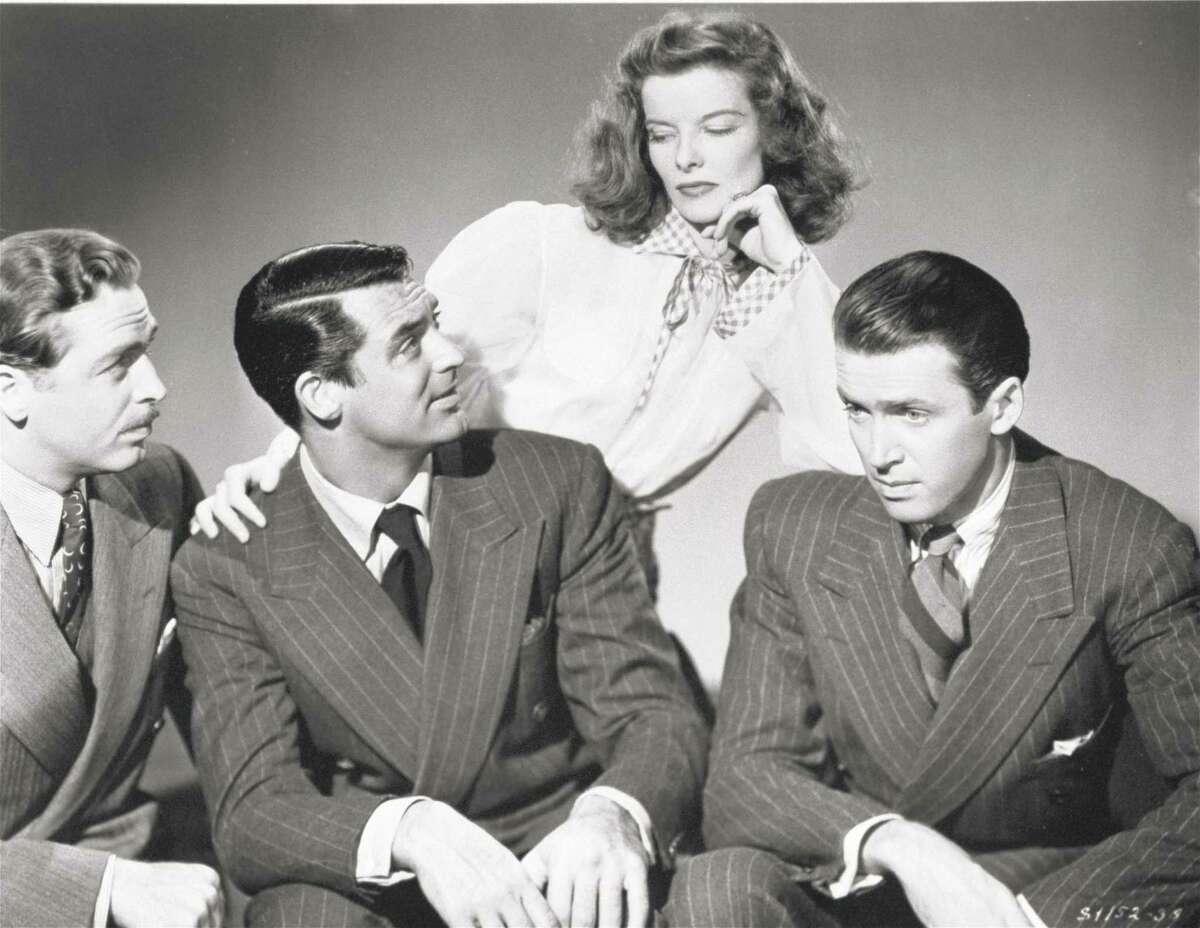 John Howard (left), Cary Grant, Katharine Hepburn and Jimmy Stewart were the stars.