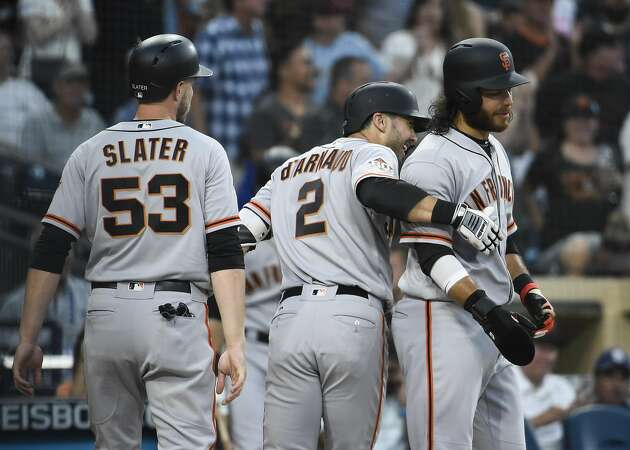Giants blow three-run lead but beat Padres in 12 innings
