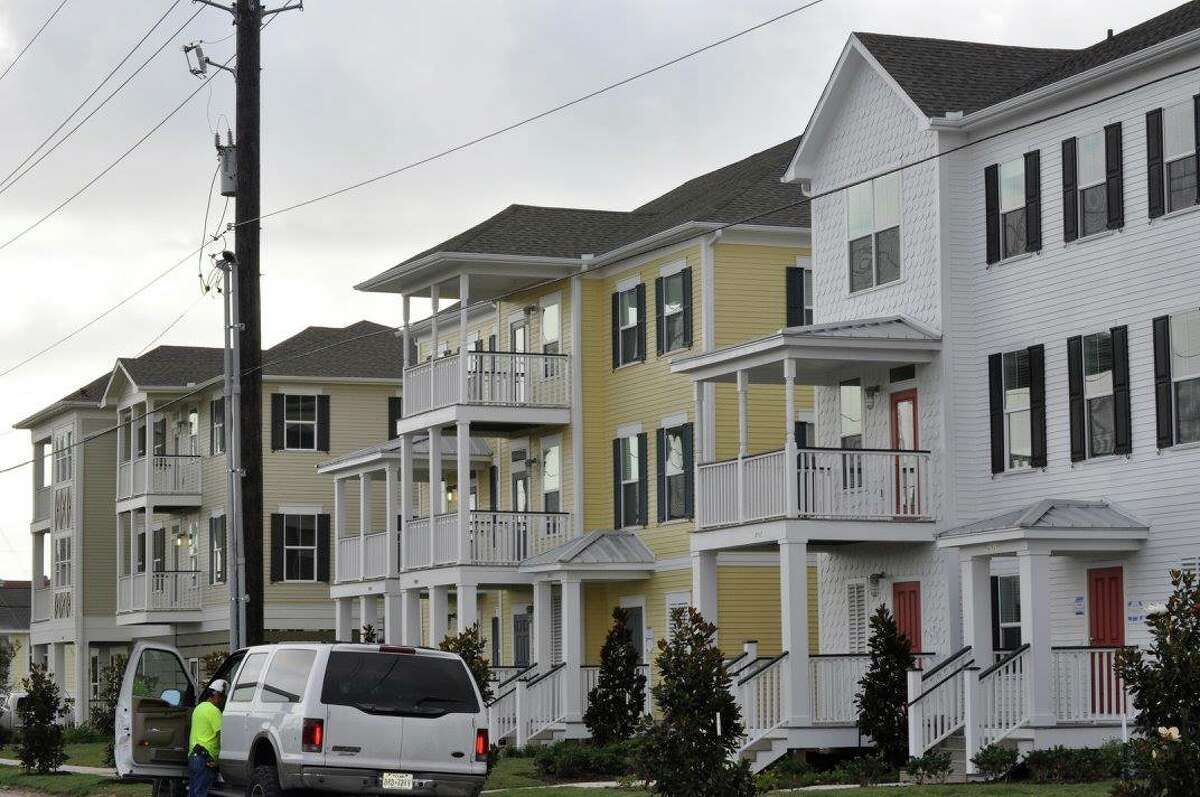 The mixed-income Villas on the Strand provide a fraction of the 569 public housing units lost to Hurricane Ike in 2008.