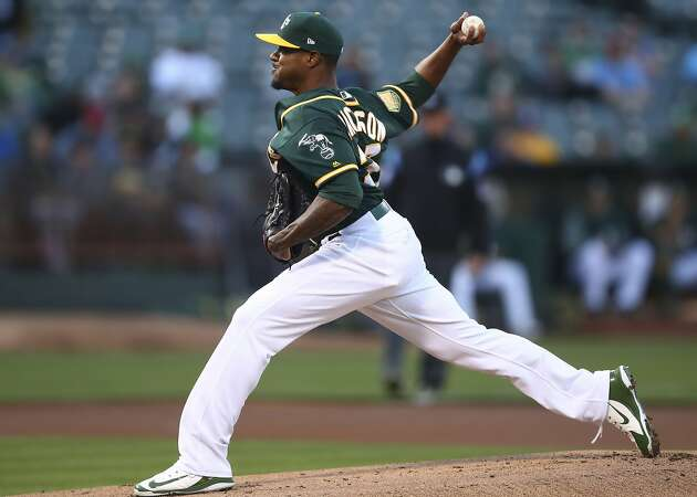 A's celebrate Edwin Jackson's 100th win with 10-1 rout in homestand opener