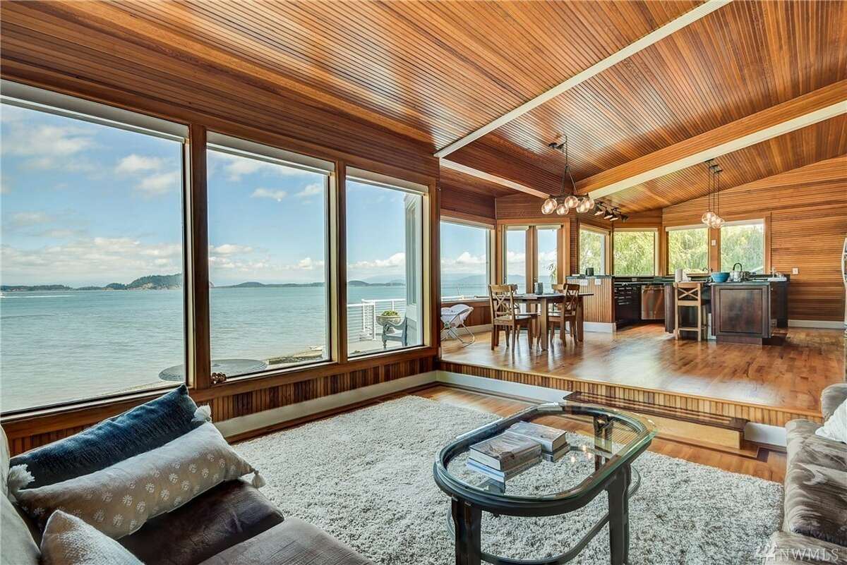 Escape Seattle in style with this Whidbey Island waterfront retreat, yours for $925K