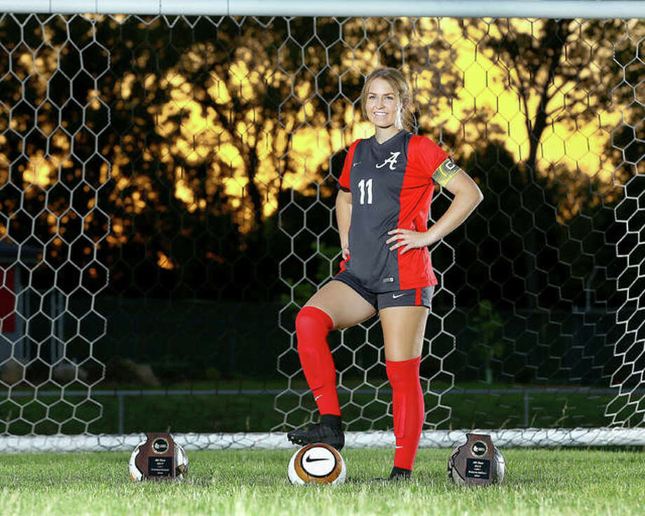 Alton senior Brianna Hatfield won All-State honors in 2018 for the second consecutive season and is The Telegraph Large-Schools Girls Soccer Player of the Year. She will play this fall at Florida Gulf Coast University. Photo: 
