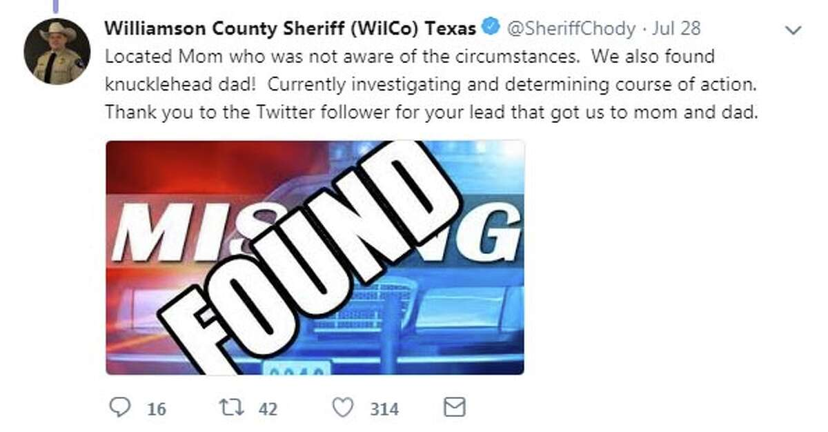 A Texas sheriff turned to social media over the weekend to identify a child who was allegedly abandoned by his father after fleeing the scene of a car crash.